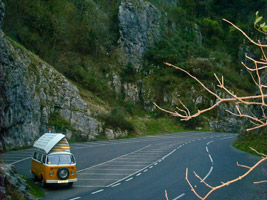 Cheddar Gorge in a campervan